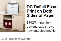 DC Deficit Fixer: Print on Both Sides of Paper