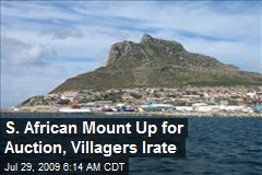S. African Mount Up for Auction, Villagers Irate