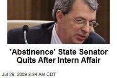 'Abstinence' State Senator Quits After Intern Affair