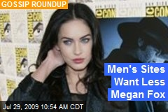 Men's Sites Want Less Megan Fox