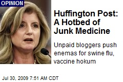 Huffington Post: A Hotbed of Junk Medicine