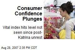 Consumer Confidence Plunges