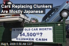 Cars Replacing Clunkers Are Mostly Japanese