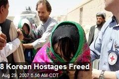 8 Korean Hostages Freed