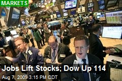 Jobs Lift Stocks; Dow Up 114