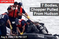 7 Bodies, Chopper Pulled From Hudson