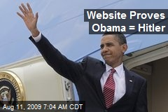 Website Proves Obama = Hitler