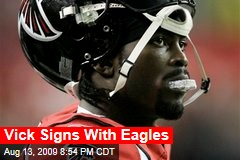 Vick Signs With Eagles