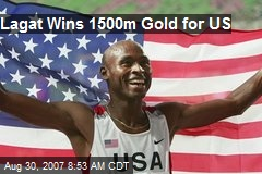 Lagat Wins 1500m Gold for US