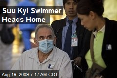 Suu Kyi Swimmer Heads Home