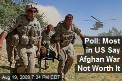 Poll: Most in US Say Afghan War Not Worth It