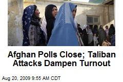 Afghan Polls Close; Taliban Attacks Dampen Turnout