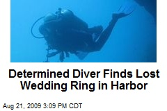 Determined Diver Finds Lost Wedding Ring in Harbor