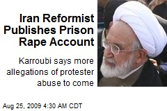 Iran Reformist Publishes Prison Rape Account