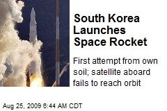 South Korea Launches Space Rocket