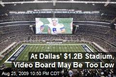 At Dallas' $1.2B Stadium, Video Board May Be Too Low