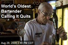 World's Oldest Bartender Calling It Quits