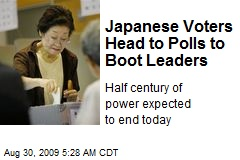 Japanese Voters Head to Polls to Boot Leaders