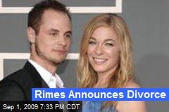 Rimes Announces Divorce