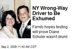NY Wrong-Way Driver to Be Exhumed