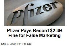 Pfizer Pays Record $2.3B Fine for False Marketing