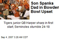 Son Spanks Dad in Bowden Bowl Upset