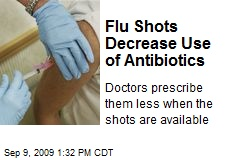 Flu Shots Decrease Use of Antibiotics