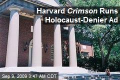 Harvard Crimson Runs Holocaust-Denier Ad