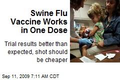 Swine Flu Vaccine Works in One Dose