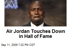 Air Jordan Touches Down in Hall of Fame
