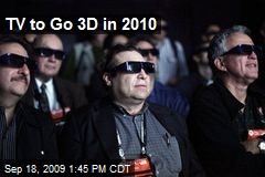 TV to Go 3D in 2010