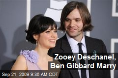 Zooey Deschanel, Ben Gibbard Marry