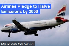 Airlines Pledge to Halve Emissions by 2050