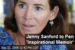 Jenny Sanford to Pen 'Inspirational Memoir'