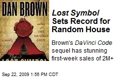 Lost Symbol Sets Record for Random House