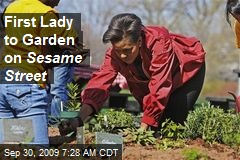 First Lady to Garden on Sesame Street
