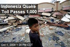 Indonesia Quake Toll Passes 1,000