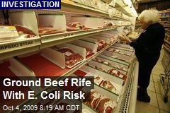 Ground Beef Rife With E. Coli Risk
