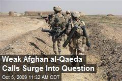 Weak Afghan al-Qaeda Calls Surge Into Question