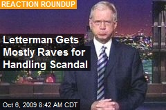 Letterman Gets Mostly Raves for Handling Scandal
