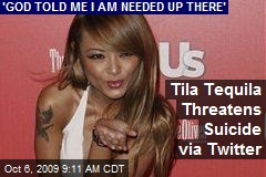 Tila Tequila Threatens Suicide via Twitter