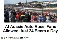 At Aussie Auto Race, Fans Allowed Just 24 Beers a Day