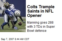 Colts Trample Saints in NFL Opener