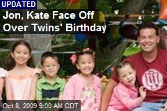 Jon, Kate Face Off Over Twins' Birthday