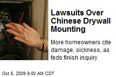 Lawsuits Over Chinese Drywall Mounting