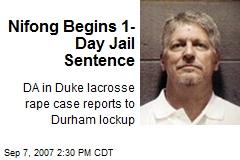 Nifong Begins 1-Day Jail Sentence