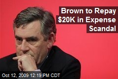 Brown to Repay $20K in Expense Scandal