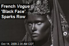 French Vogue 'Black Face' Sparks Row