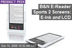 B&N E-Reader Sports 2 Screens: E-Ink and LCD