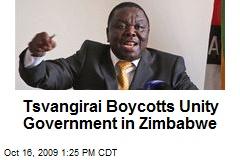 Tsvangirai Boycotts Unity Government in Zimbabwe